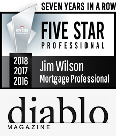 Diablo Magazine 2018, 2017, 2016, 2015, 2014, 2013 & 2012 Five Star Mortgage Professional Award